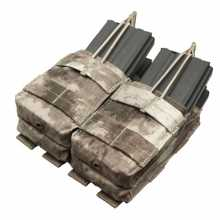 Подсумок Condor MA43 Double Stacker Open-Top M4 Mag Pouch двойной A-tacs AU