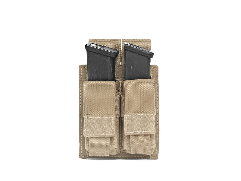 Подсумок Direct Action Double DA 9mm Pistol Pouch Warrior Assault Systems на 2 магазина, цвет – Coyote Tan