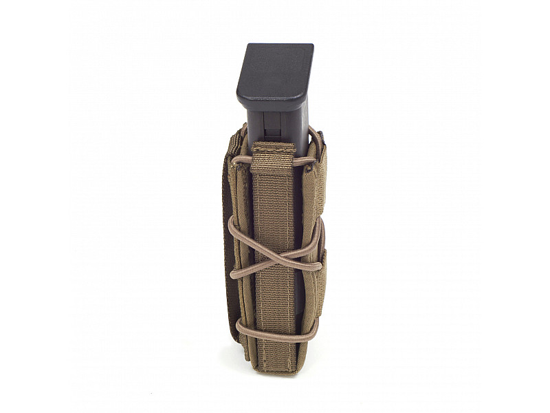 Подсумок MOLLE Single Quick Mag for 9mm Pistol Warrior Assault Systems для пистолетного магазина 9мм, цвет – Coyote Tan